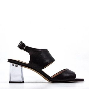 DKNY Lucite-Heel Sandals size 9